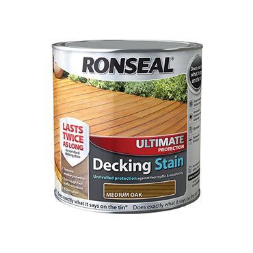 Ronseal Ultimate Decking Stain Medium Oak 2.5L