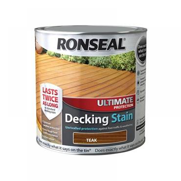 Ronseal Ultimate Decking Stain Rich Teak 2.5L