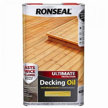 Ronseal Ultimate Protection Decking Oil Natural Pine 5L