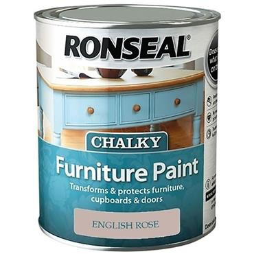 Ronseal Chalk Paint English Rose 750ml
