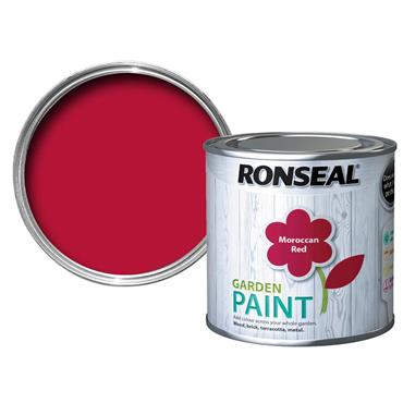 Ronseal Garden Paint Moroccan Red 250ml