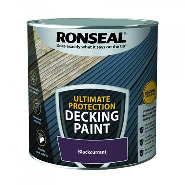 Ronseal Ultimate Decking Paint Blackcurrant 2.5L