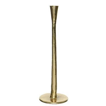 Kaemingk 35cm Gold Aluminium Candleholder