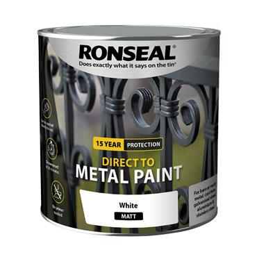Ronseal Direct To Metal White Matt 250ml