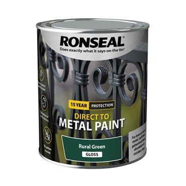 Ronseal Direct To Metal Rural Green Gloss 250ml