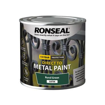 Ronseal Direct To Metal Rural Green Satin 250ml