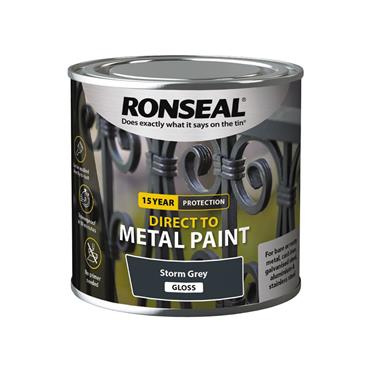 Ronseal Direct To Metal Storm Grey Gloss 250ml