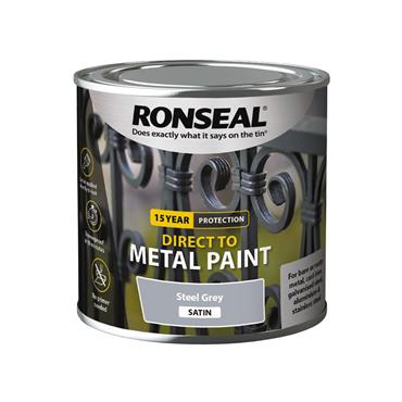 Ronseal Direct To Metal Storm Grey Satin 250ml