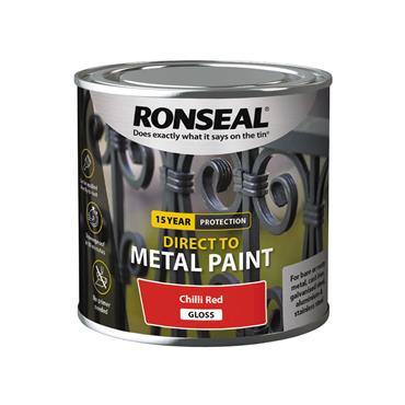 Ronseal Direct To Metal Chilli Red Gloss 250ml