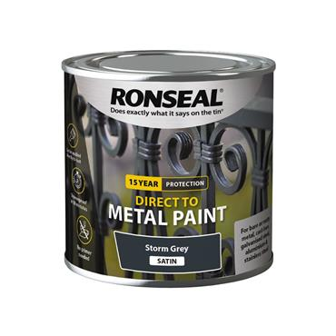 Ronseal Direct To Metal Storm Grey Satin 750ml