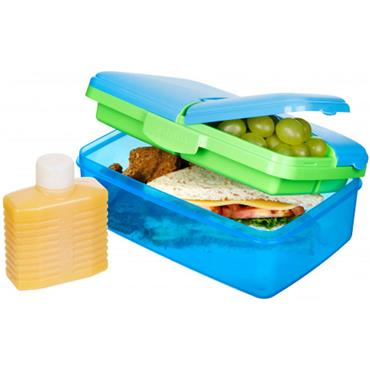 Sistema Assorted Slimline Quaddie Lunch Box 1.5L