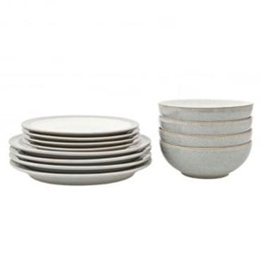 Denby Intro Stone White Tableware 12pce