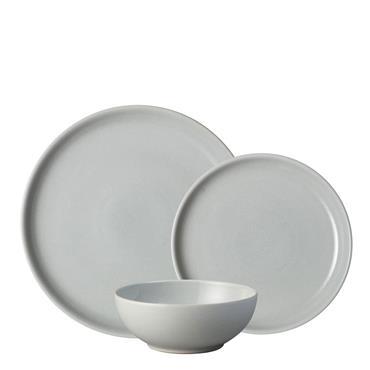 Denby Intro Soft Grey Tableware 12pce