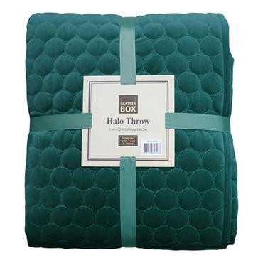 Scatter Box Halo Teal Quilt Bedspread
