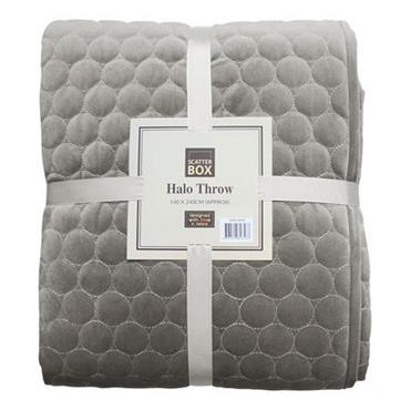 Scatter Box Halo Taupe Quilt Bedspread