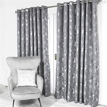 Scatter Box Watercolour Trees Ready Made Curtains Charcoal