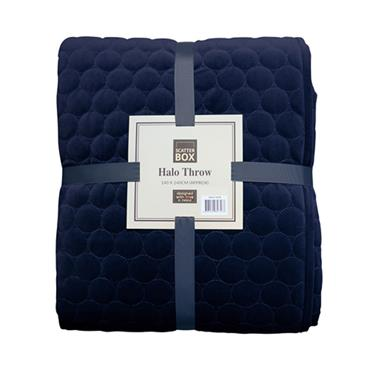 Scatter Box Halo Midnight Quilt Bedspread