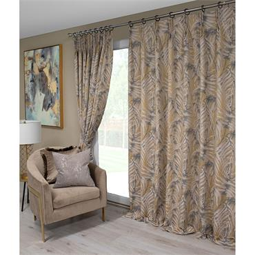 Scatter Box Zahara Natural Pinch Pleat Ready Made Curtains