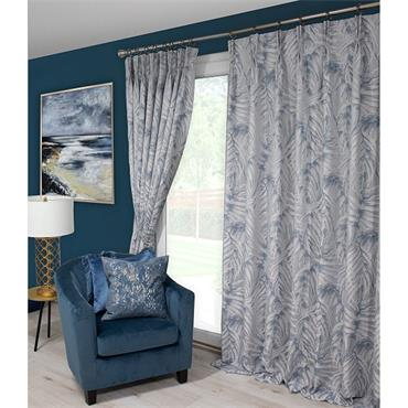 Scatter Box Zahara Blue Pinch Pleat Ready Made Curtains