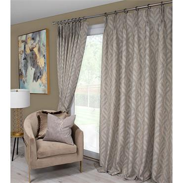 Scatter Box Sika Natural Pinch Pleat Ready Made Curtains