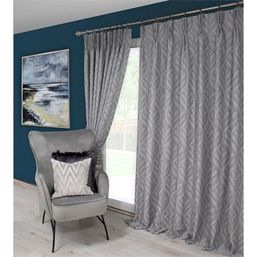 Scatter Box Sika Grey Pinch Pleat Ready Made Curtains