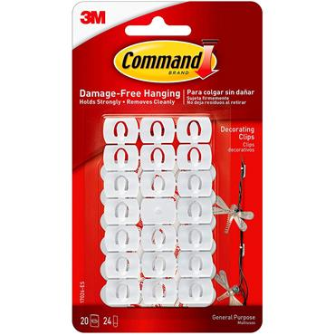 Command Decorating Clips White 20pk