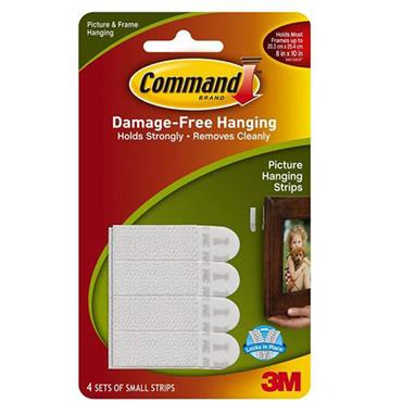 Command Small Picture Hanging Strips 4pk