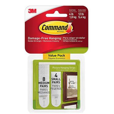 Command Picture Hanging Strips Assorted 12pk