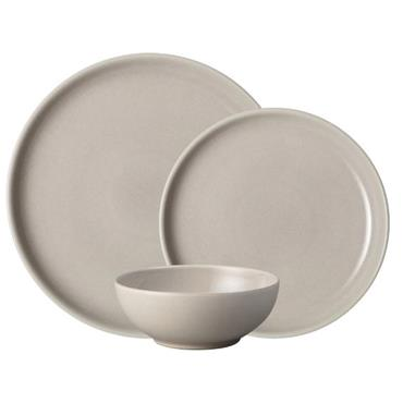 Denby Intro Taupe Tableware Set 12pce