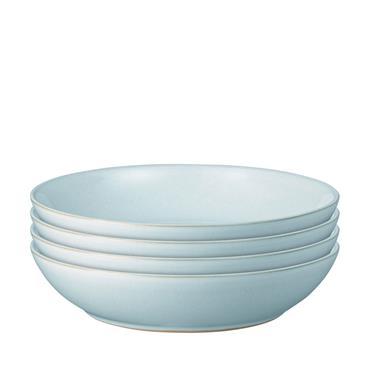 Denby Intro Pale Blue Pasta Bowls 4pce