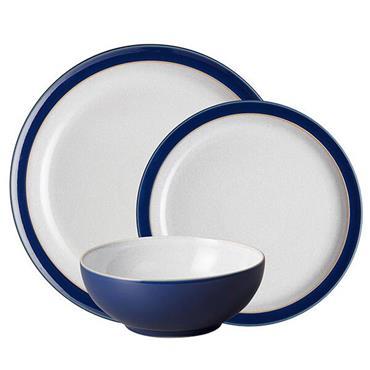 Denby Elements Dark Blue Tableware Set 12pce