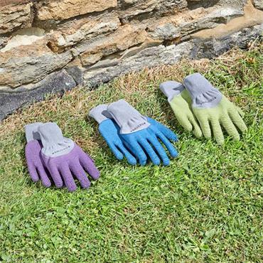 Smart Garden All Seasons Gloves Green Medium Size 8