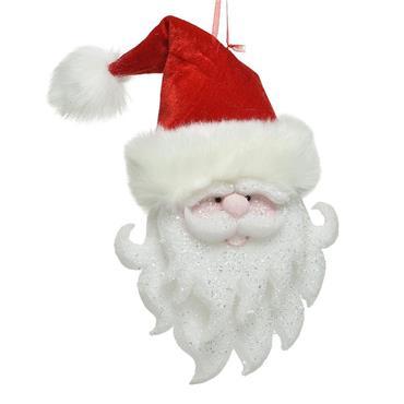 Foam Santa Face With Velvet Hat