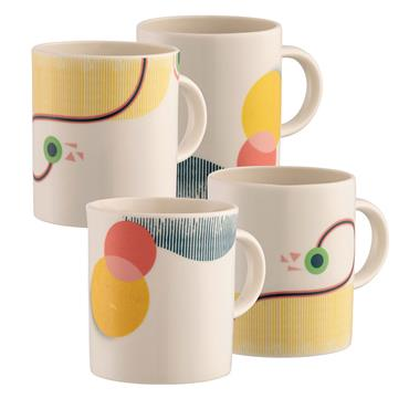 Belleek Moda Mugs 4pce