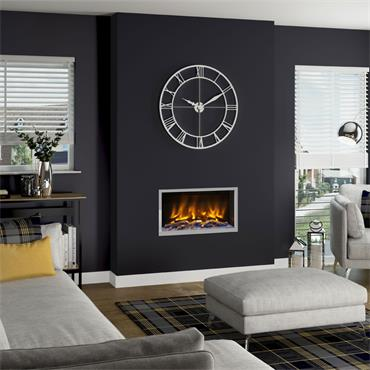 """Elgin & Hall 32"""" Pryzm Volta 5D Inset Electric Fire Chome"""