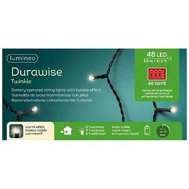 Warm White 48 Led Durawise Battery Lights