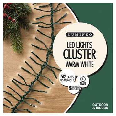 Kaemingk 1512 Warm White LED Cluster Outdoor Lights