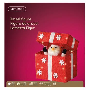 Led Santa in Moving Giftbox