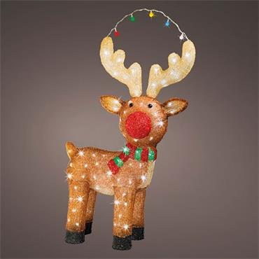 Kaemingk 85cm LED Outdoor Acrylic Flashing Reindeer