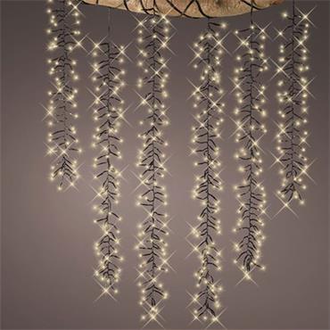 Kaemingk Warm White Hanging Cascade Lights 6 x 80cm