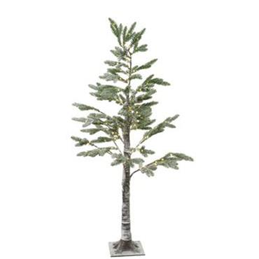2.1m Micro Led Pine Tree with Snow