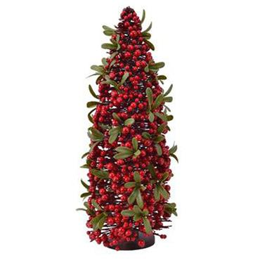 55cm Plastic Tree With Red Foam Berries