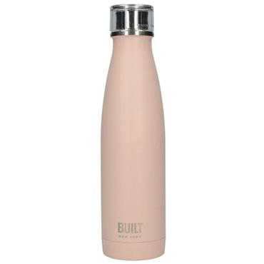 Built 500ml Double Walled Stainless Steel Water Bottle Pale Pink