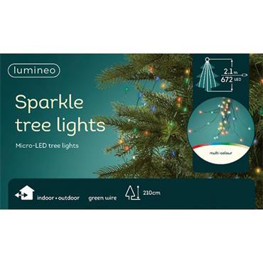Kaemingk 672 Multicoloured Micro LED Sparkle Indoor & Outdoor Tree Lights