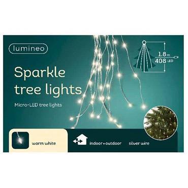 Kaemingk 408 Warm White Micro LED Sparkle Tree Lights
