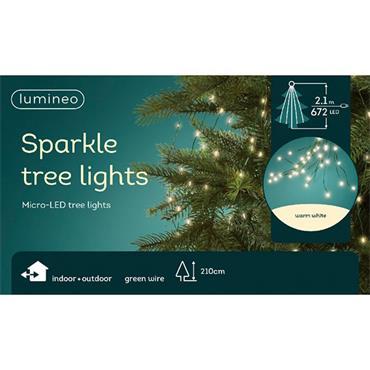 Kaemingk 672 Warm White Micro LED Sparkle Indoor & Outdoor Tree Lights
