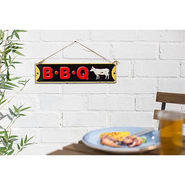 La Hacienda BBQ Sign