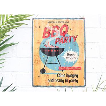 La Hacienda BBQ Party Sign