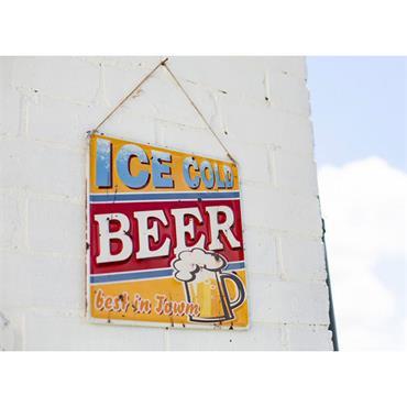 La Hacienda Ice Cold Beer Sign