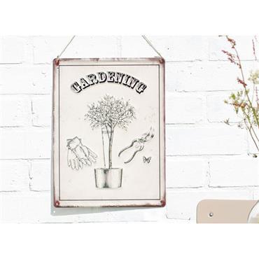 La Hacienda Gardening Sign